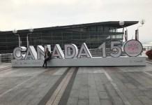 캐나다150주년 조형물