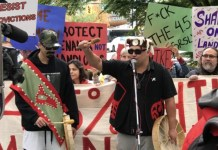 월세 인상 항의 집회
