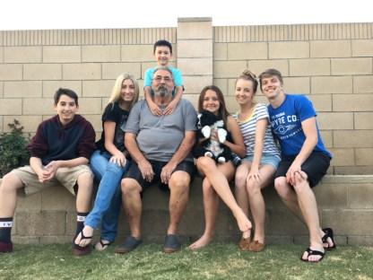 Noah, Delaney, Dad, Jason, Jordyn (grandkids)