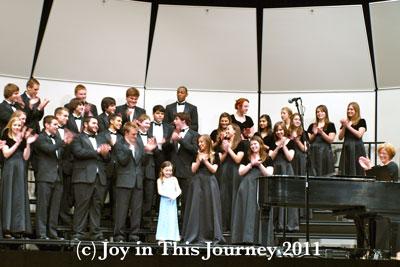 choir singing happy birthday