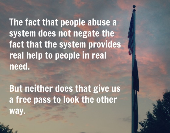 An abused system may still provide real help.