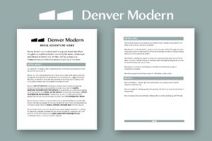 Denver Modern branding sample