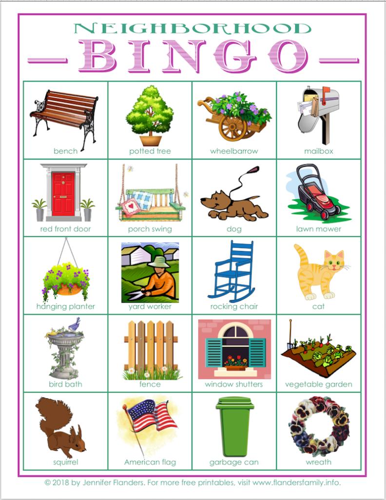 neighborhood bingo