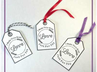 I have free printable tags that you can add to your handmade items