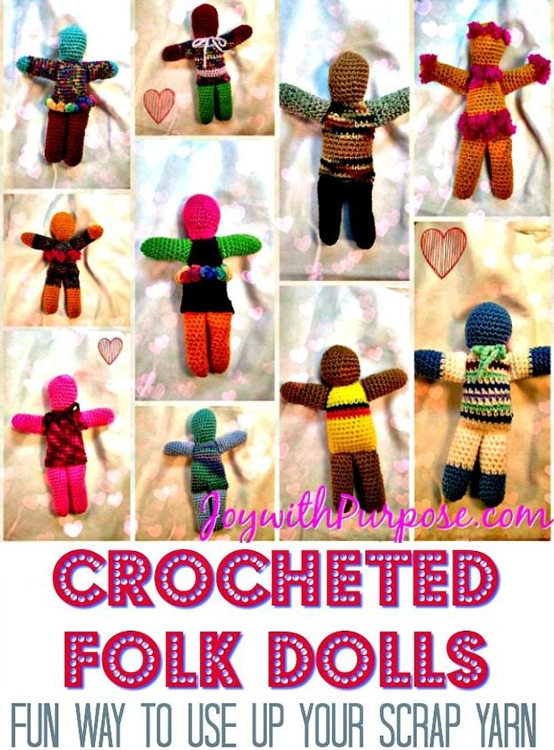Crocheted Dolls from Scrap Yarn