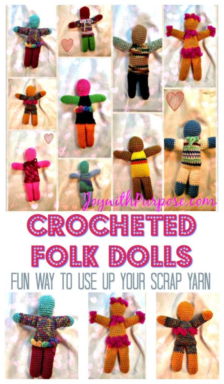 tutorial to make easy Crocheted Dolls