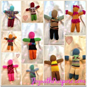 crocheted dolls