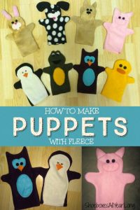 How to Make Hand Puppets with Fleece