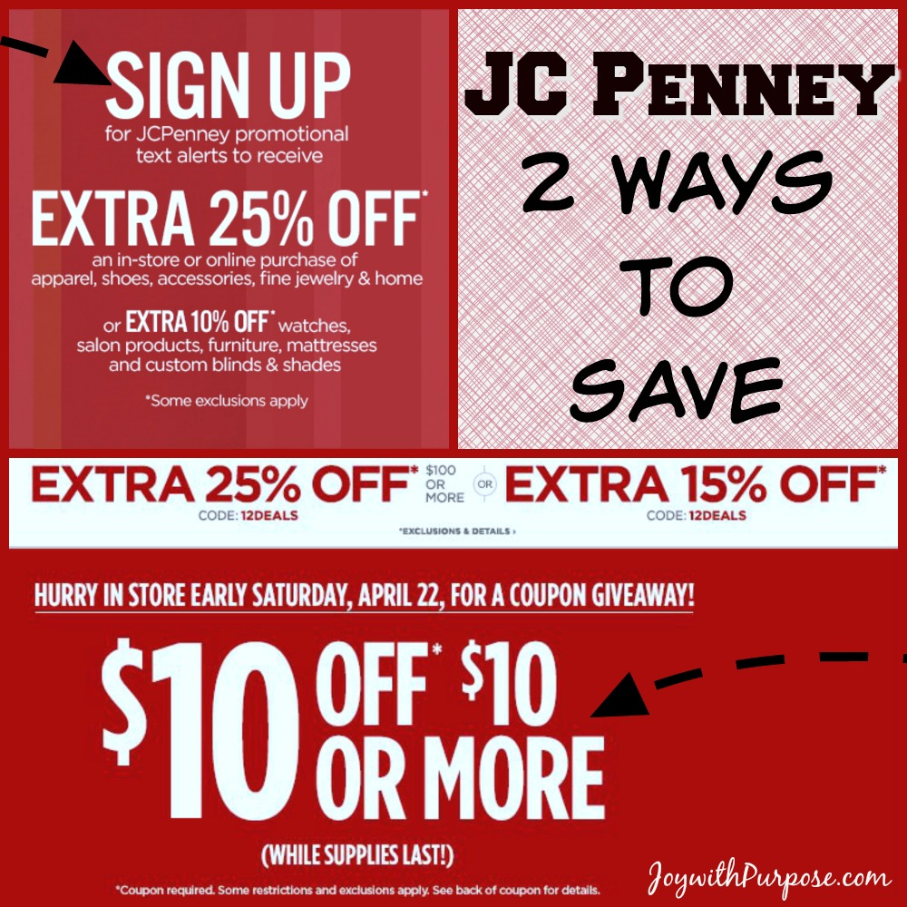 Why I LOVE JC Penney Coupons