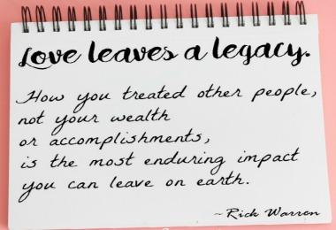 Love quote by rick warren
