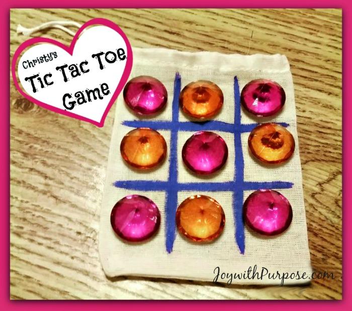 Easy DIY Tic Tac Toe Game tutorial