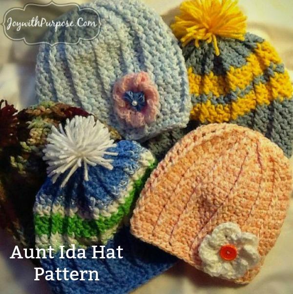 tips to get free yarn to crochet my Aunt Ida hat pattern