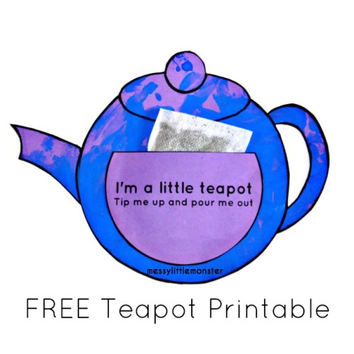Teapot Printable Craft for Mother's Day
