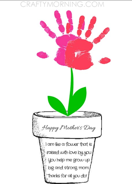 Printable Mothers Day Flower Pot Poem