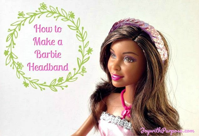 How to Make a Barbie Headband just upcycle plastic rings