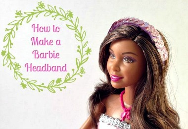 How you can upcycle plastic rings to make a Barbie Headband