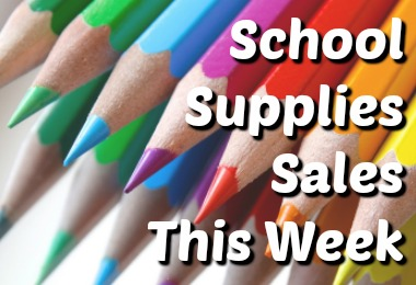 School Supplies Sales for July 16-22 2017