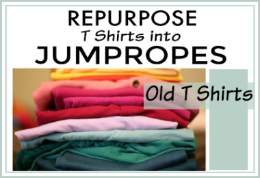 Upcycle and Repurpose T Shirts into Jump Ropes