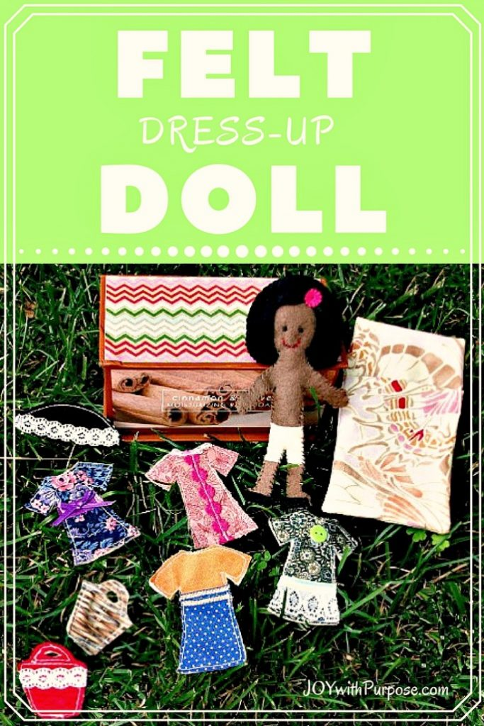 Easy Felt Dress Up Doll Every Child Will LOVE