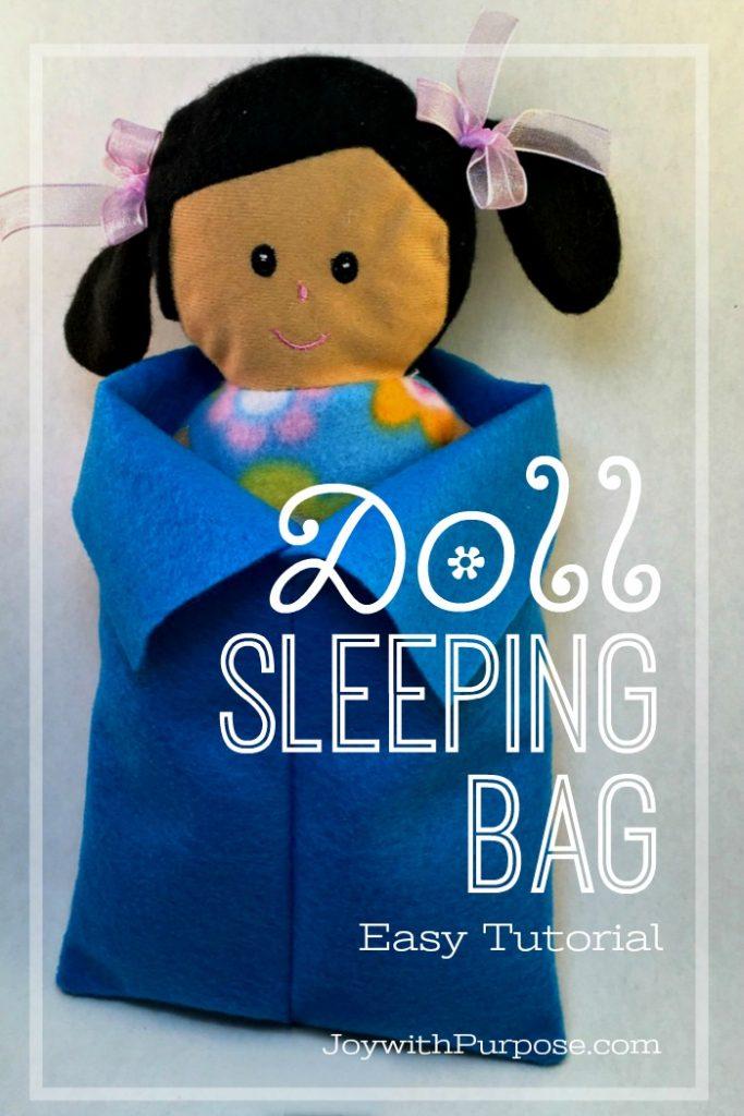 Doll Sleeping Bag Easy Tutorial
