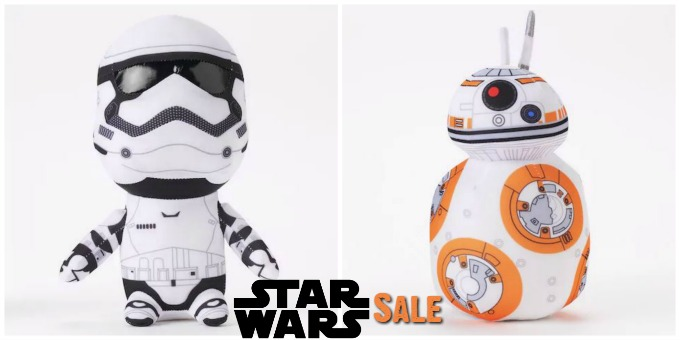 Star Wars Sale at Kohls storm trooper and bb8