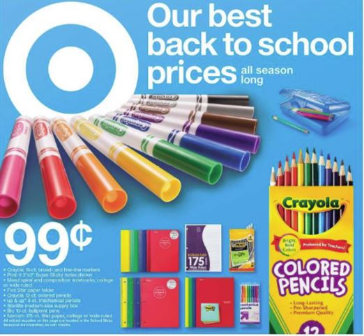 Back to School Discount Deals for July 29-August 4, 2018 at Target
