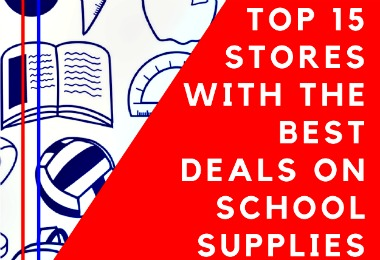These are my TOP 15 Stores With the Best Deals on School Supplies