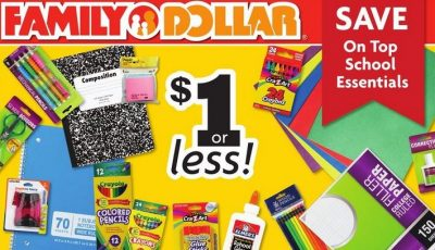 Family Dollar is one of the stores to check for the Best Deals on School Supplies