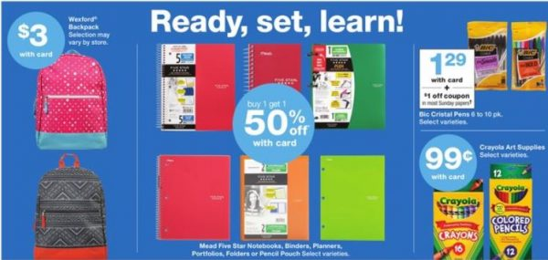 Walgreens is one of the stores to check for the Best Deals on School Supplies