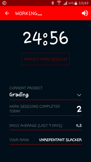 My stats while I'm working