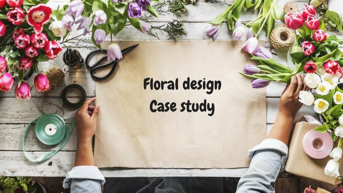 Floral design case study dla techników florystów.