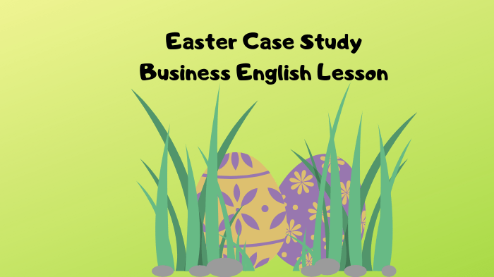 Easter Case Study – Business English lesson