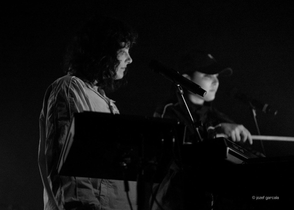 Montreal's electro-pop duo Milk and Bone performing at Village Underground, London, UK