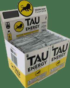 TAU Energy Drink Golden Rush Flavour Sugar Free Skillet 48's x 6