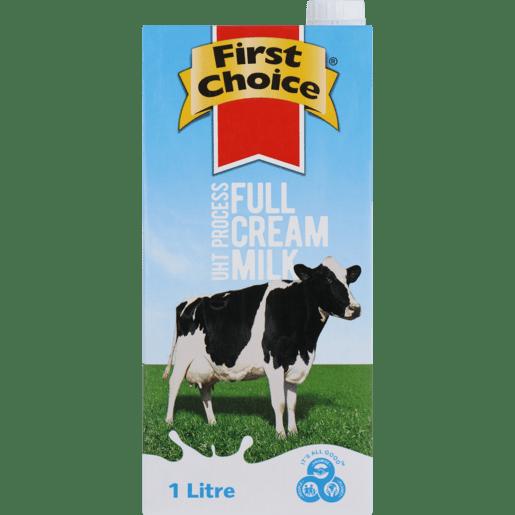 First Choice Long Life Milk 1l x 6