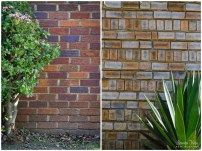 Face brick walls