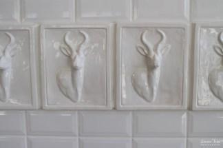 White Ceramic Antelope Tiles
