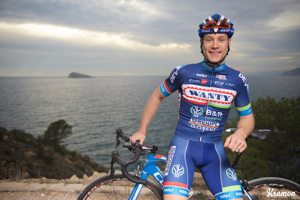 pre-2016 season portrait of Antoine DemoitiÈ (BEL/Wanty-Groupe Gobert) who was involved in a crash during Gent-Wevelgem and were he got hit by a motorbike that couldn't avoid a collision. DemoitiÈ's condition was that serious that he was taken to ICU/hospital where he later died of his injuries. Team Wanty-Groupe Gobert 2016 pre-season training camp Benidorm, Spain