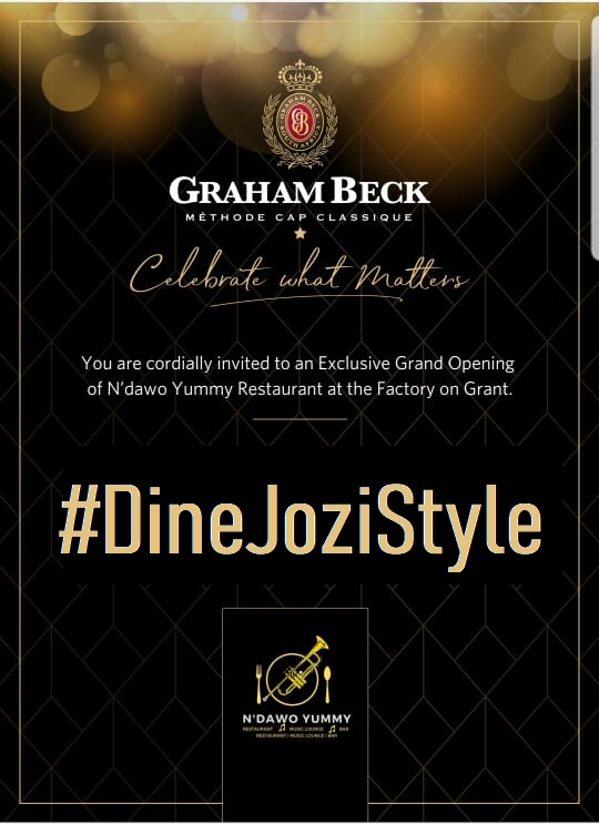 DineJoziStyle Graham Beck Factory on Grant