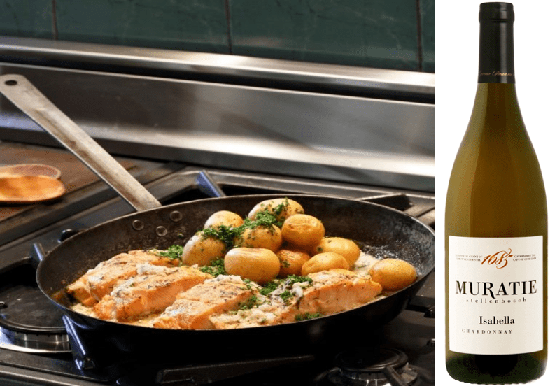 Annatjie's Salmon with Tarragon and Cream Sauce to Complement Muratie Isabella Chardonnay 2019