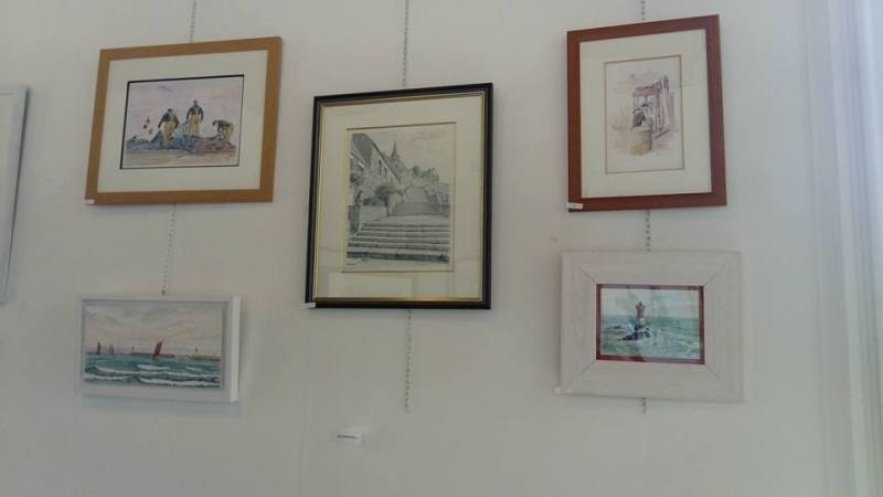 Exposition des aquarelles de Jean-Pascal Duboil au festival international d'aquarelle du Perche