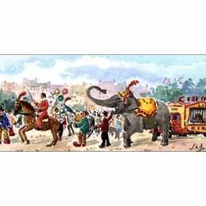 La Parade du cirque - Aquarelle de JC Duboil