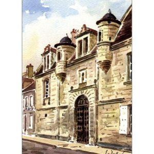 Collège Saint-Laurent - Aquarelle de Jean-Claude Duboil