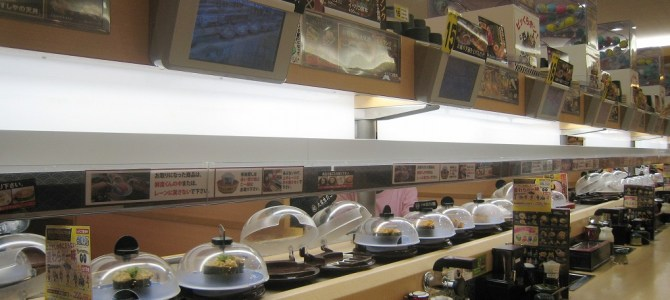 Visiting a conveyor belt sushi restaurant in Fukuoka