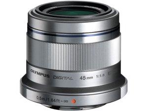 OLYMPUS 単焦点レンズ M.ZUIKO DIGITAL 45mm F1.8 ボディカラー ブラック シルバー