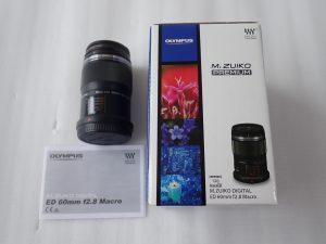 中古品 オリンパス M.ZUIKO DIGITAL ED 60mm F2.8 Macro レンズ