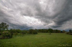 Paysage avant le coup de vent - Haut Quercy - Bétaille - 2019