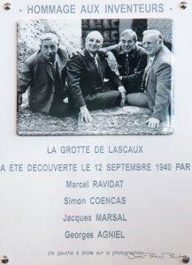 Ces quatre hommes, découvrirent la grotte de Lascaux en septembre 1940