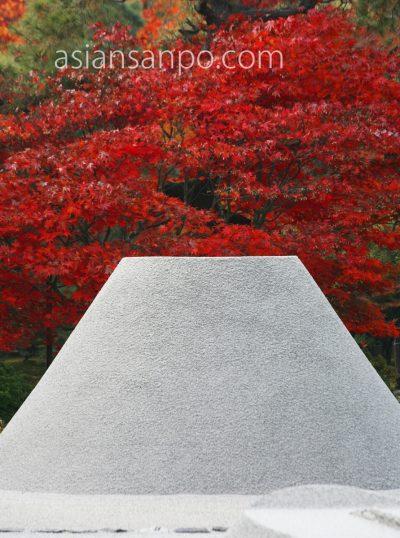 京都 銀閣 紅葉