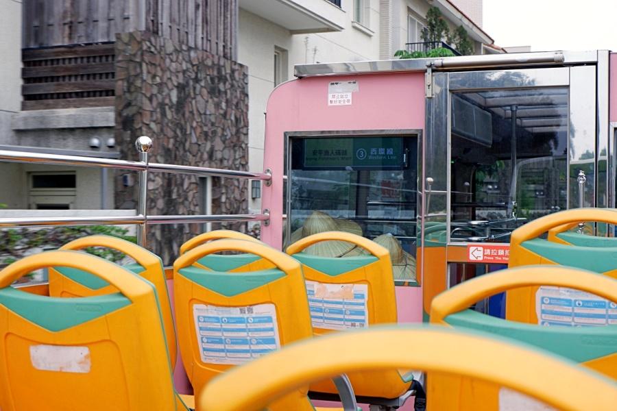 台湾・台南旅行:二階建て観光バス